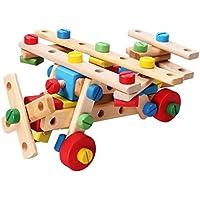多目的ナット3d Jigsaw教育DIY木製パズル、Best誕生日クリスマスギフトおもちゃfor Boys Girls