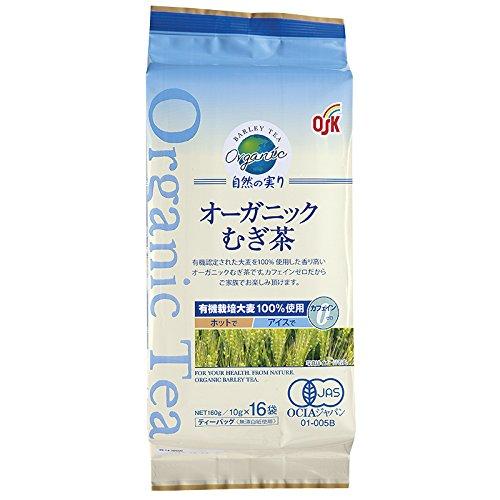 オーガニック食品 自然の実り 麦茶ティーパック16袋×4個