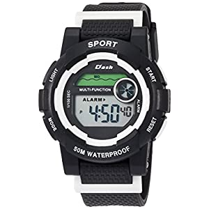 [アリアス]ALIAS 腕時計 デジタル DASH 5気圧防水 ウレタンベルト ホワイト ADWW17100-03 メンズ