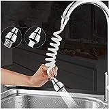 MCMCAU Faucet Extender Home Kitchen Faucet Extension Extender Long Hose Portable Retractable Foam Shower Sprinkler (Color : S