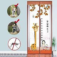 Velcro 磁気スクリーン ドア,ヘビーデューティ メッシュ カーテン 完全なフレーム 防蚊 新鮮な空気を入れなさい 高密度 防蚊ネット-D 80x190cm(31x75inch)