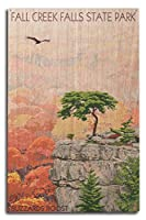 Fall Creek Falls状態公園、テネシー州–Buzzards Roost 10 x 15 Wood Sign LANT-33139-10x15W