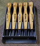 三木章 パワーグリップ 彫刻刀 5本組 利き手:左利き用