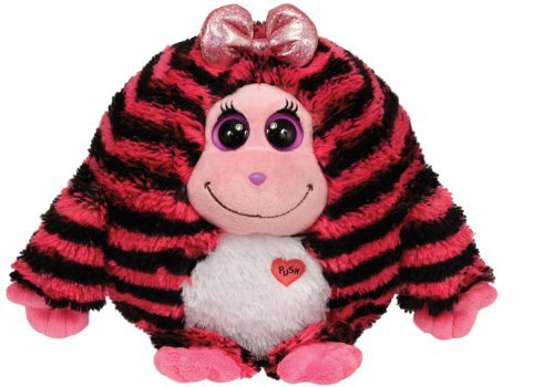 RoomClip商品情報 - Ty Monstaz ZOEY - pink w/black stripes Medium Plush by Ty [並行輸入品]