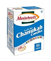 (Pack of 6) - Manischewitz Chanukah Candles Colourful - 44 Ct (Pack of 6)