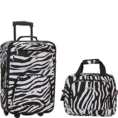 ロックランド バッグ スーツケース Rio 2 Piece Carry On Luggage Set Zebra [並行輸入品]