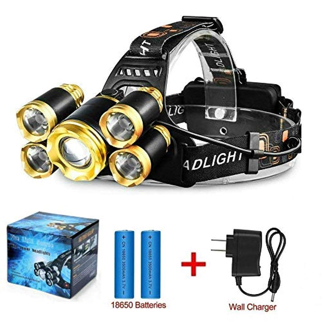 細胞みがきます助けてッドライト ヘッドランプ led 高輝度 ヘッドライトCREE T6 角度調節可能 ズーム SOS 防水機能