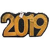 APINATA4U 2019 新年ピニャータ ブラック&ゴールドカラー