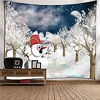 TLMY クリスマス雪だるまタペストリー壁掛け壁画テレビの背景壁3Dデジタル印刷ポリエステルアート壁の装飾家ぶら下げ布寝室リビングルームタペストリー壁マウントピクニック毛布 タペストリー (Color : 007)