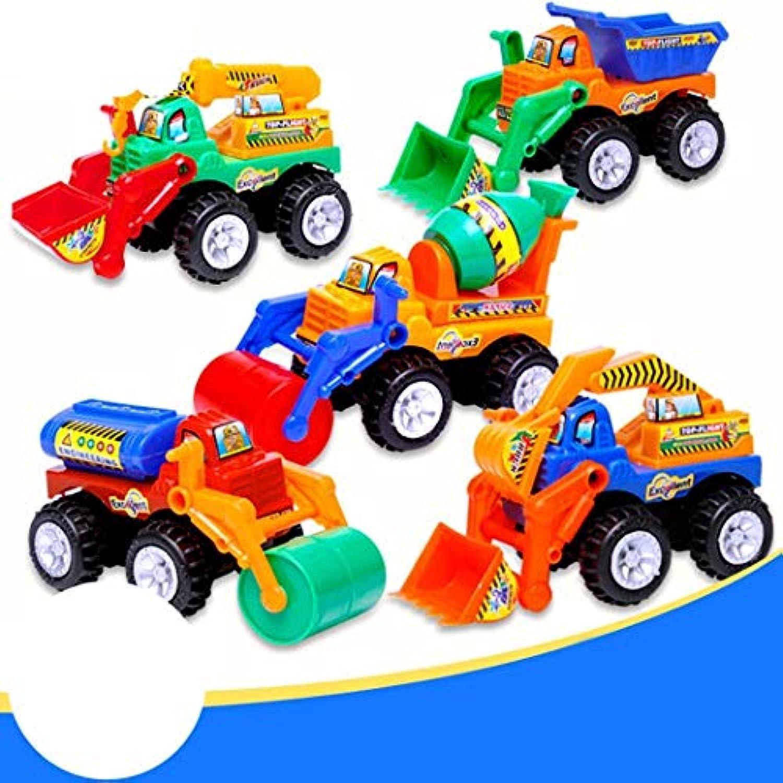 Aelove キッズ 手動 インエルティア シミュレーション玩具 トラック 車 ミニ エンジニアリング玩具 プッシュ&プルおもちゃ (ランダムタイプ)