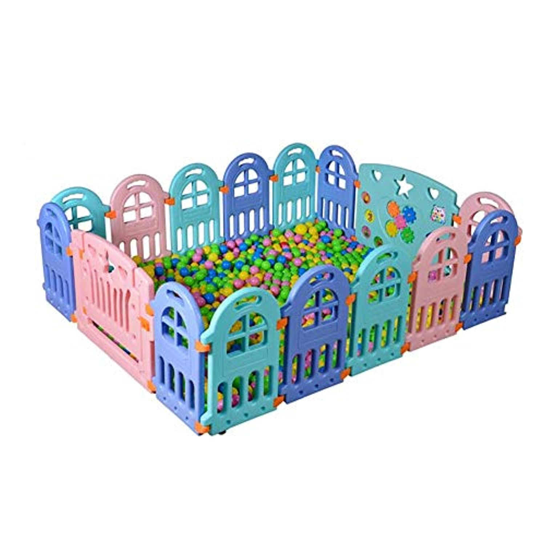 ベビーサークル 赤ちゃんの遊び場18パネル屋内の安全クロール幼児のフェンス16パネルロックされたドア、60センチメートル (サイズ さいず : 16 pieces)