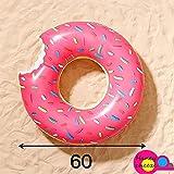 【 60 】【 ドーナツ 】かわいい ドーナツ型 ピンク 浮輪 特大 60㎝ 海水浴 プール 海 川 水遊び グッズ フロート 浮き輪 ドーナツ 60