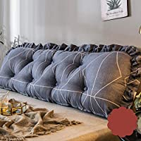ベッド クッション, プリンセス ベッド ソフトバッグ かわいい 大きな背もたれ リムーバブル洗浄 ソファ長い枕 バックパッド 腰部パッド付き-h 140*45cm
