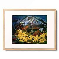 エルンスト・ルートヴィヒ・キルヒナー Ernst Ludwig Kirchner 「Schafherde」 額装アート作品