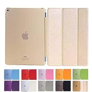 MS factory iPad Air 2 スマート カバー バック ケース ゴールド IPDA2-SSET-GD