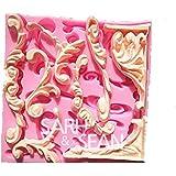 【Ever garden】 レリーフ ① 彫刻 シリコンモールド / 手作り 石鹸 / キャンドル / 粘土 / レジン / シリコン モールド / 型 抜き型