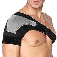 BROFIRE 肩サポーター マジック テープ式 肩固定 脱臼 右肩 左肩 肩固定 けが 防止 姿勢訂正 男女兼用 ストレッチ 大人用 フリーサイズ 肩痛 肩こり 四十肩 五十肩
