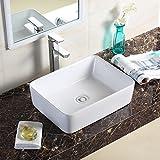 Homelava 洗面ボウル 洗面ボール 洗面器 手洗い鉢 洗面台 手洗器 陶器製 スクエア 48.5cm
