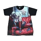 スーサイドスクワット ハーレイクイン 映画 人気 ストリート系 デザインTシャツ おもしろTシャツ メンズTシャツ 半袖 [並行輸入品]