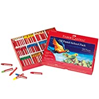 (288 Count) - Faber-Castell - Oil Pastels School Pack - Premium Art Supplies For Kids (24 Each of 12 Colours) (288 Count)