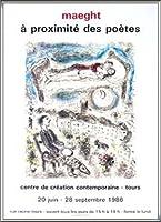 ポスター マルク シャガール Aragon-A proximite des Poetes 額装品 アルミハイグレードフレーム(シルバー)