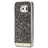 【本水晶&本革】 Case-Mate 日本正規品 docomo Galaxy S6 SC-05G Brilliance Case, Champagne Gold ブリリアンス ケース, シャンパン ゴールド CM032325