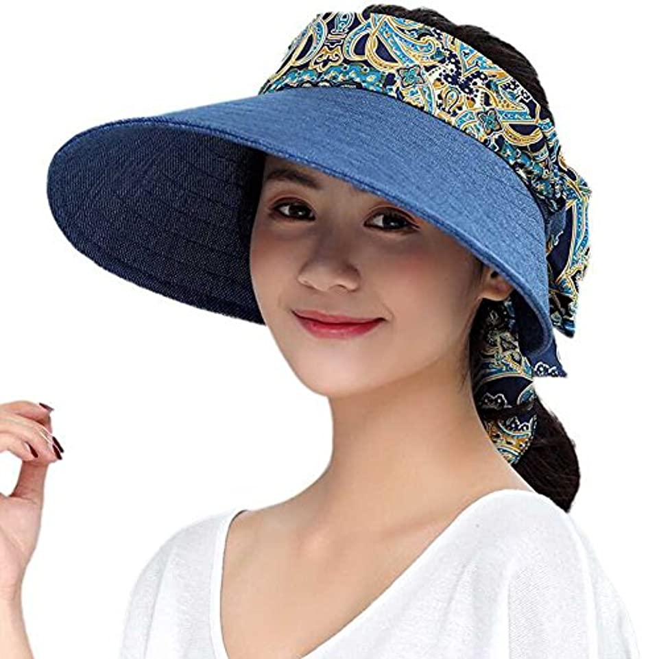 不利晩餐ビルマuvカット サンバイザー レディース 日よけ帽子 花モチーフ リボン おしゃれ 帽子 首までuvカット 日よけ帽 折りたたみ 紫外線対策 日焼け止め コットン 通気 お出かけ 旅行 海遊び ガーデニング 農作業 ぼうし