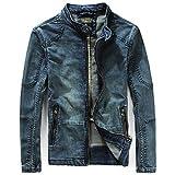 (ティーエヌケーカンパニー)Tnk&Co. メンズ ジップアップ デニム ライダースジャケット #1197 (L)