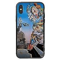 cronos スマホカバー ケース iPhone8 iPhone7 背面ガラス ジャケット型 動物柄 アニマル キリン 茶 動物柄 かわいい ani0218 受注生産