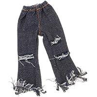 SONONIA  ファッション タッセル  ジーンズ  パンツ 12インチブライスドール用 服 黒