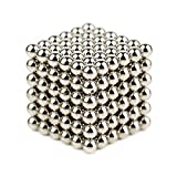 OBEST 強力磁石の立体パズル 216+6個セット 5mmx5mmx5mm マグネットボール 強力マジック磁石 教育工具 DIY工具 子供 大人に適用 ネオジム磁石の立体パズル(グレー)