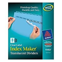 Index Maker Clear Label Punched Dividers, Blue 8-Tab, Letter