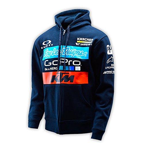 TroyリーDesigns 2016 Team KTM Fleeceジップアップパーカー M