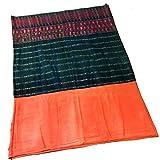 ラオス製 藍染 絹刺繍 古布 巻きスカート 腰衣 ラオス サロン シン アジアン エスニック 民族織 アンティーク 刺繍布