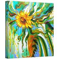 ArtWall Susi Franco's ひまわり メルティングギャラリーラップキャンバス 14x14 マルチカラー 0fra038a1414w