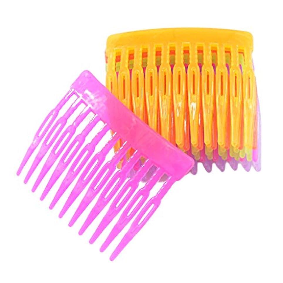 Prettyia ヘアアクセサリー 10個入り 髪留め 混合色 DIY