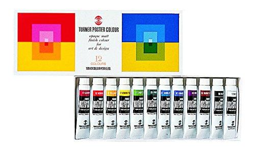 ターナー色彩 ポスターカラー 12色スクールセット PC12C 11ml