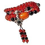 ブレスレット パワーストーン オニキス ネックレス 天然石 瑪瑙 アゲート レッドアゲート(赤瑪瑙) 丸玉 (赤瑪瑙)