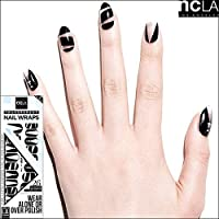 【ncLA/エヌシーエルエー】ネイルシール/ネイルラップ/爪に貼るだけで/ネイルアート(透明/ジップ/ブラック)