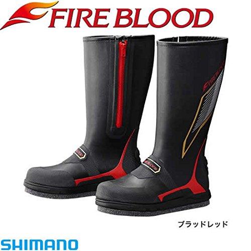 SHIMANO(シマノ) ジオロック・カットラバーピンフェルトブーツW(ワイドタイプ) FIRE BLOOD FB-156P