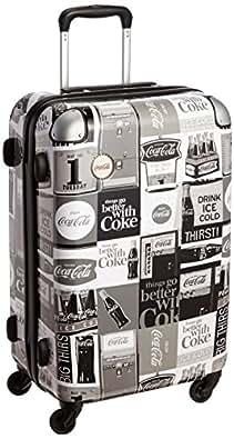 [コカ コーラ] coca cola レトロプリント・ハードキャリー CO1889 Monochrome (モノトーン)