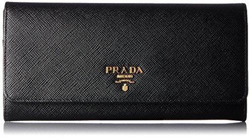 [プラダ] PRADA レディース 2つ折り長財布【並行輸入品】 1MH132QWA 002 (ブラック)