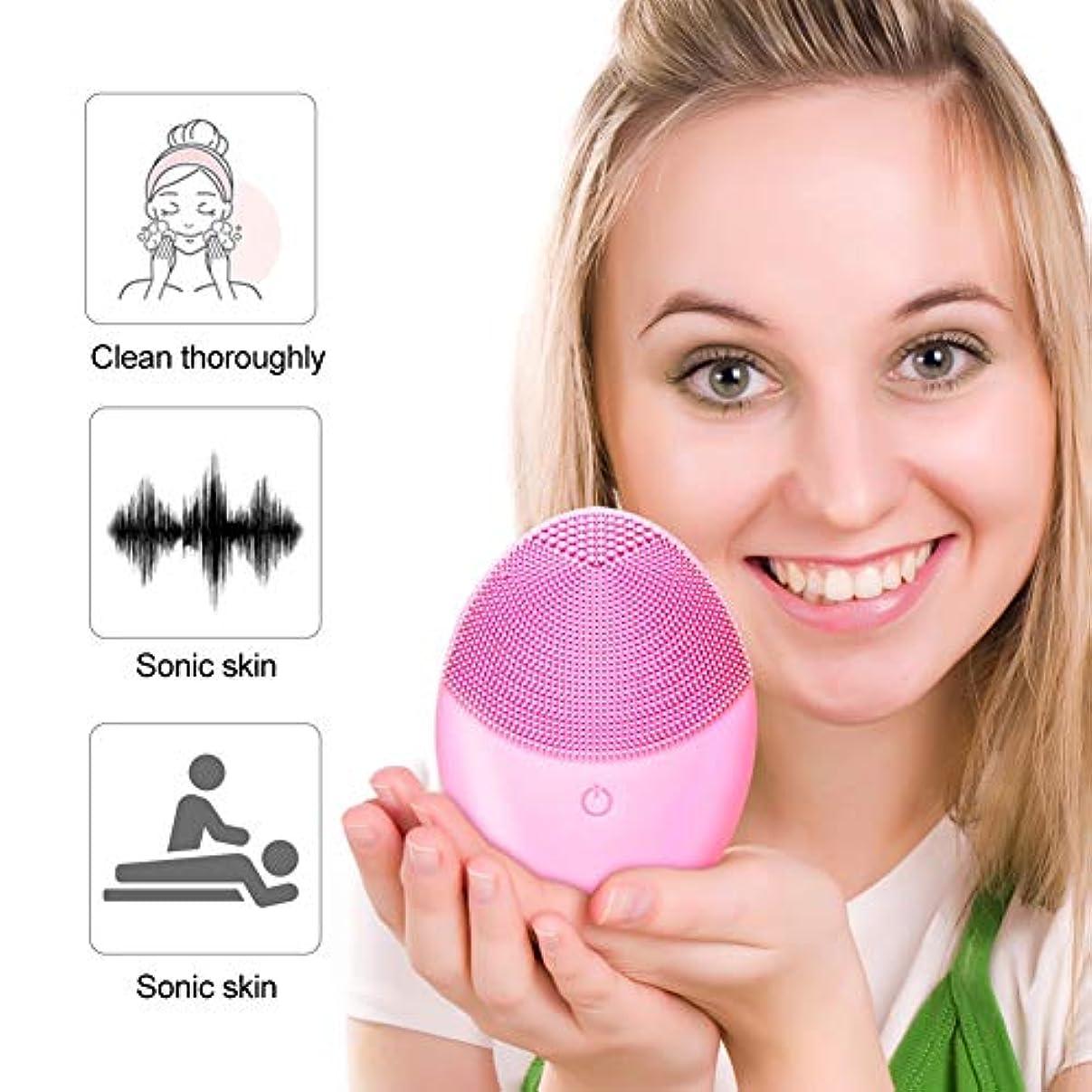 リングバックロマンチック誰ブラックヘッド、ディープクレンジングスキンケアを削除洗顔ブラシ、携帯用電気クレンザーブラシシリコーンフェイスマッサージャー、毛穴クリーナー超音波メイクアップリムーバー、ウォッシュアーティファクト、エクスフォリエイティング...