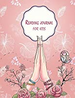 """Reading Journal for Kids: Pretty Pink Floral, Book Reading Planner, Reading Log Book, Portable Book Reading Report, Summer Reading Journal 120 Pages 8.5x11"""""""