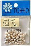 TOHO ウッドビーズ6mm R6-6(キジ) 5Pセット