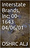 Interstate Brands, Inc; 00-1643  04/06/01 (English Edition)