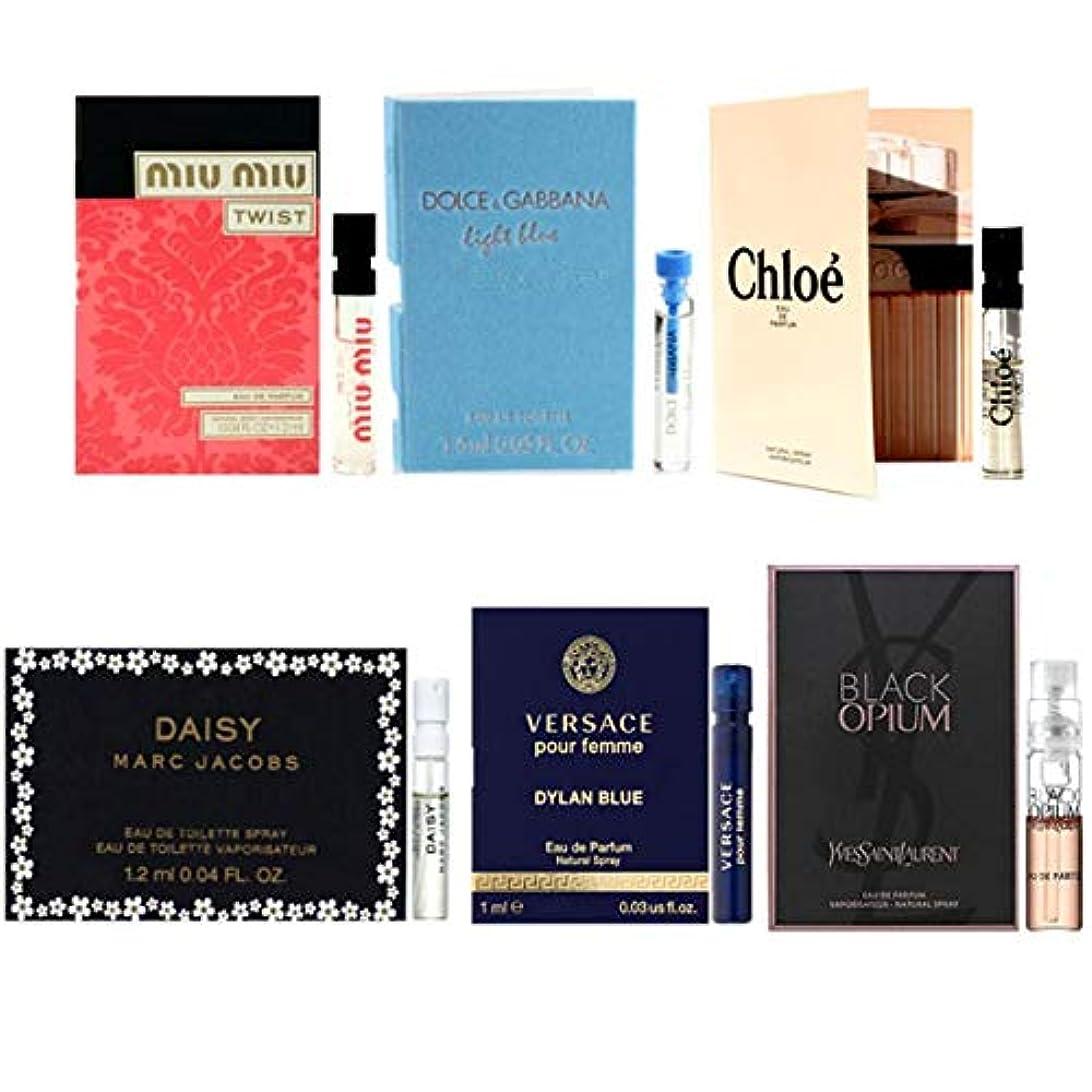 南方の気絶させるスイス人女性用 Eau de Parfum/Eau de Toilette For Women Samples 6/set [海外直送品] [並行輸入品]