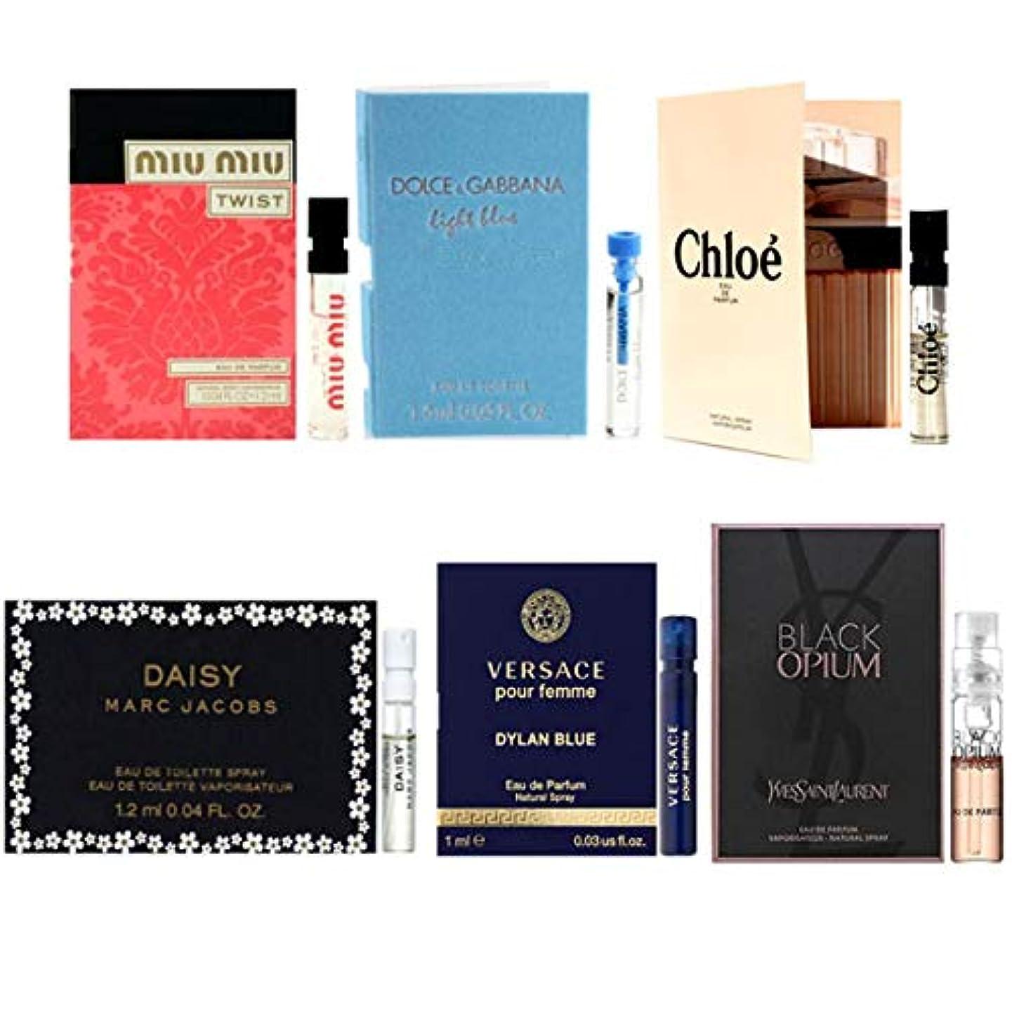 海嶺贅沢なさびた女性用 Eau de Parfum/Eau de Toilette For Women Samples 6/set [海外直送品] [並行輸入品]
