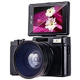 ビデオカメラ Besteker デジタルビデオカメラ HD 2400万画素 1080P 30FPS(フレーム/秒)広角レンズ付き 3.0 インチTFT-LCDスクリーン 16倍デジタルズーム 270度回転 日本語説明書&保証書付き(DV-G36)