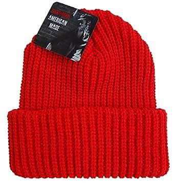 (ニューヨークハット) NEW YORK HAT ニットキャップ 4648 CHUNKY CUFF チャンキーカフ(レッド)
